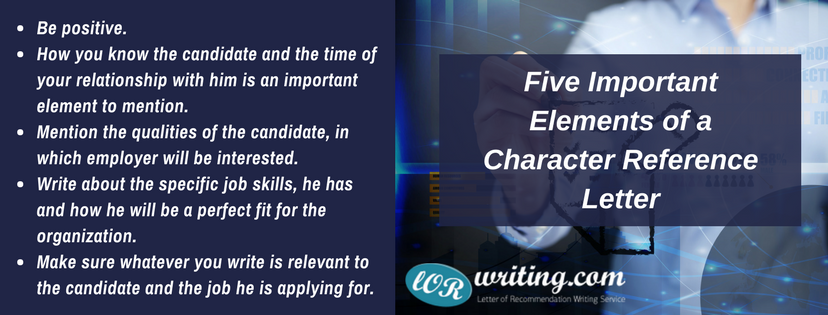 tips for letter of recommendation character reference