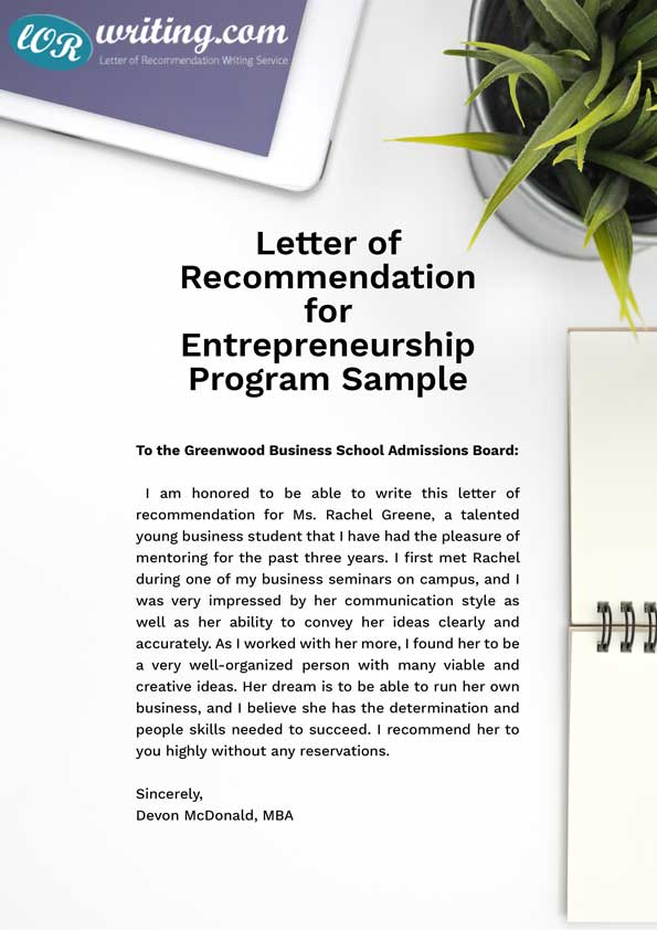 check this professional sample mba recommendation letter