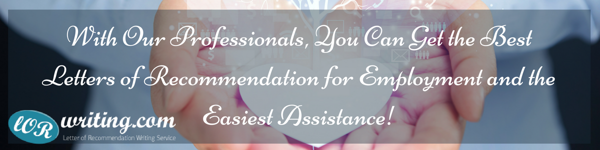 letter of recommendation for employment assistance