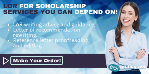 recommendation letter for scholarship writing service