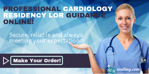 professional cardiology residency letter of recommendation