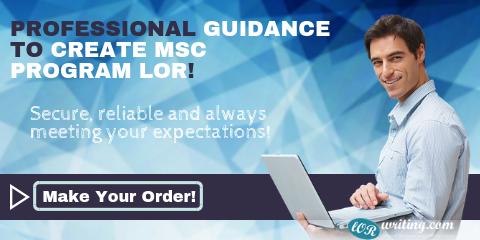 professional letter of recommendation for msc program
