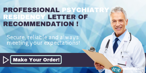 professional letter of recommendation psychiatry residency