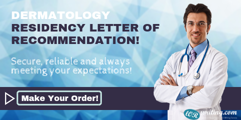 professional lor for dermatology residency program