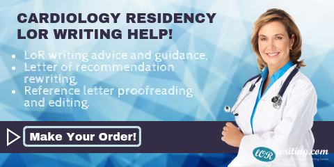 writing reference letter for cardiology residency